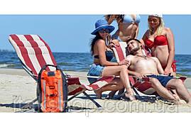 Шезлонг складаний пляжний Ranger RA 7012R до 130 кг Червоний, фото 3
