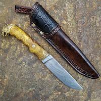 Нож ручной работы Змей, дамаск, фото 1