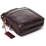 Мужская сумка кожаная коричневая Eminsa 6136-4-3, фото 4