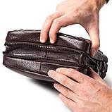 Мужская сумка кожаная коричневая Eminsa 6136-4-3, фото 5