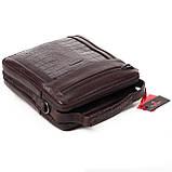Мужская сумка кожаная коричневая Eminsa 6136-4-3, фото 6