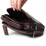 Мужская сумка кожаная коричневая Eminsa 6136-4-3, фото 7