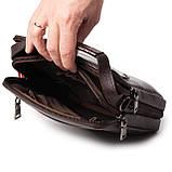 Мужская сумка кожаная коричневая Eminsa 6136-4-3, фото 8