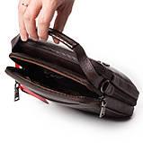 Мужская сумка кожаная коричневая Eminsa 6136-4-3, фото 9