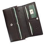 Женский кошелек Visconti HT-35 Chokolate кожаный коричневый, фото 3