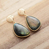 Сережки-підвіски з натурального каменю, фото 1