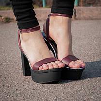 Босоножки на толстом каблуке 7468, фото 3