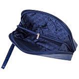 """Женская косметичка Butun 665-008-034 кожаная """"под рептилию"""" синяя, фото 4"""