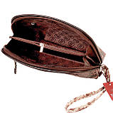 """Женская косметичка Butun 665-038-004 коричневая кожаная """"под рептилию"""", фото 5"""