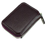 Кожаный картхолдер с отделением для купюр BUTUN 132-004-002 из натуральной кожи бордовый, фото 2