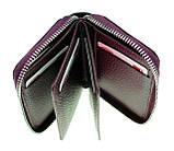 Кожаный картхолдер с отделением для купюр BUTUN 132-004-002 из натуральной кожи бордовый, фото 3