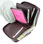 Кожаный картхолдер с отделением для купюр BUTUN 132-004-002 из натуральной кожи бордовый, фото 4