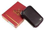Кожаный картхолдер с отделением для купюр BUTUN 132-004-002 из натуральной кожи бордовый, фото 5