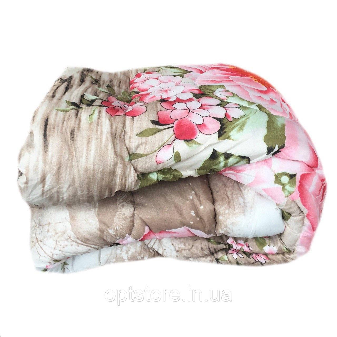 Ковдра двоспальне (175/210) холлофайбер, тканина бязь полікотон