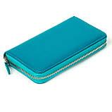 Женский кошелек Butun 639-004-050 кожаный бирюзовый, фото 2