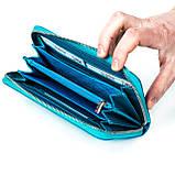Женский кошелек Butun 639-004-050 кожаный бирюзовый, фото 4