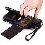 Женский кошелек Eminsa 2104-3-1 кожаный черный, фото 4