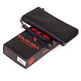 Женский кошелек Eminsa 2104-3-1 кожаный черный, фото 5