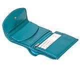 Женский кошелек кожаный бирюзовый Butun 584-004-050, фото 4