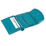 Женский кошелек кожаный бирюзовый Butun 584-004-050, фото 5