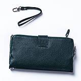 Женский клатч кожаный зеленый BUTUN 022-004-009, фото 3