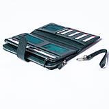 Женский клатч кожаный зеленый BUTUN 022-004-009, фото 4
