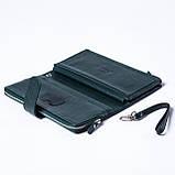 Женский клатч кожаный зеленый BUTUN 022-004-009, фото 5