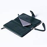 Женский клатч кожаный зеленый BUTUN 022-004-009, фото 6