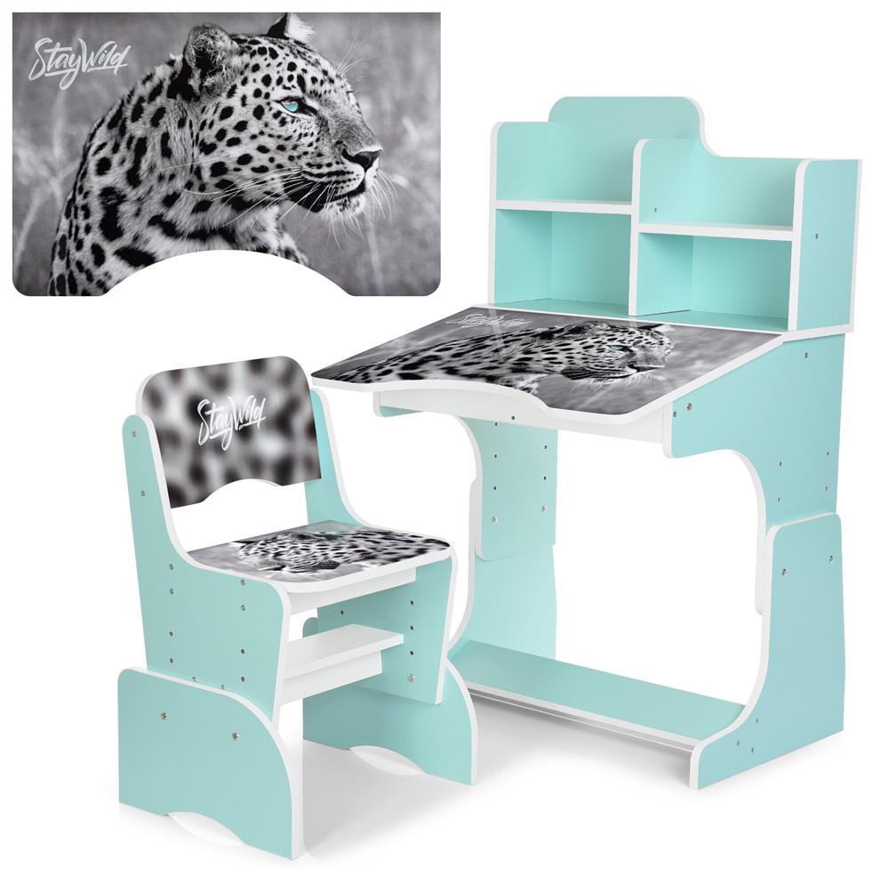 Парта Bambi Леопард черно-белый