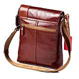 Мужская сумка кожаная коричневая Eminsa 6044-12-4, фото 2