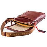 Мужская сумка кожаная коричневая Eminsa 6044-12-4, фото 6