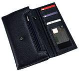 Женский большой кошелек кожаный синий Eminsa 2002-12-19, фото 3