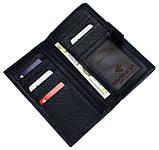Женский большой кошелек кожаный синий Eminsa 2002-12-19, фото 5