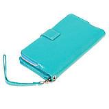 Женский кошелек клатч BUTUN 022-004-050 кожаный бирюзовый, фото 2