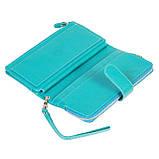 Женский кошелек клатч BUTUN 022-004-050 кожаный бирюзовый, фото 6