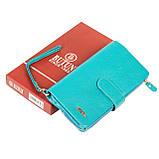 Женский кошелек клатч BUTUN 022-004-050 кожаный бирюзовый, фото 7