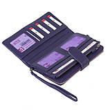 Женский кошелек клатч BUTUN 022-004-010 кожаный фиолетовый, фото 4