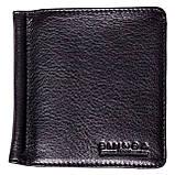 Зажим для денег Eminsa 1105-12-1 кожаный черный, фото 3