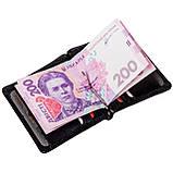 Зажим для денег Eminsa 1105-12-1 кожаный черный, фото 7