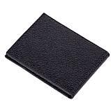Зажим на магнитах Karya 0903-45 кожаный черный, фото 2