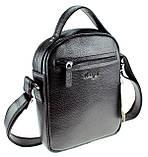 Мужская сумка барсетка Karya 0251-45 кожаная черная, фото 2