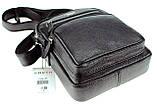 Мужская сумка барсетка Karya 0251-45 кожаная черная, фото 4