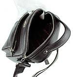 Мужская сумка барсетка Karya 0251-45 кожаная черная, фото 5
