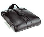 Мужская сумка Karya 0678-45 через плечо кожаная черная, фото 3