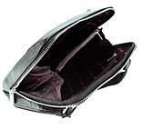 Мужская сумка Karya 0678-45 через плечо кожаная черная, фото 5