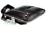 Мужская сумка Karya 0678-45 через плечо кожаная черная, фото 6