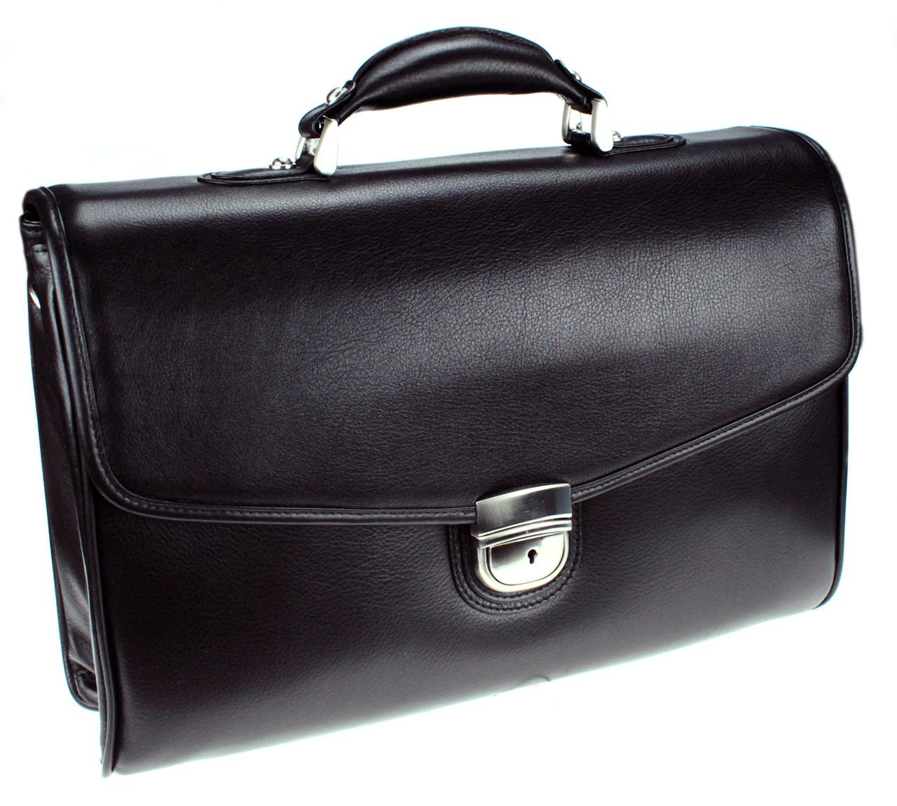 Мужской портфель Eminsa 7031-12-1 кожаный черный