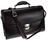 Мужской портфель Eminsa 7031-12-1 кожаный черный, фото 5