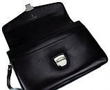 Мужской портфель Eminsa 7031-12-1 кожаный черный, фото 7
