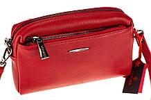 Женская сумка кросс-боди Eminsa 40125-37-5 кожаная красная